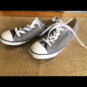 Converse Gray Low top Size 10